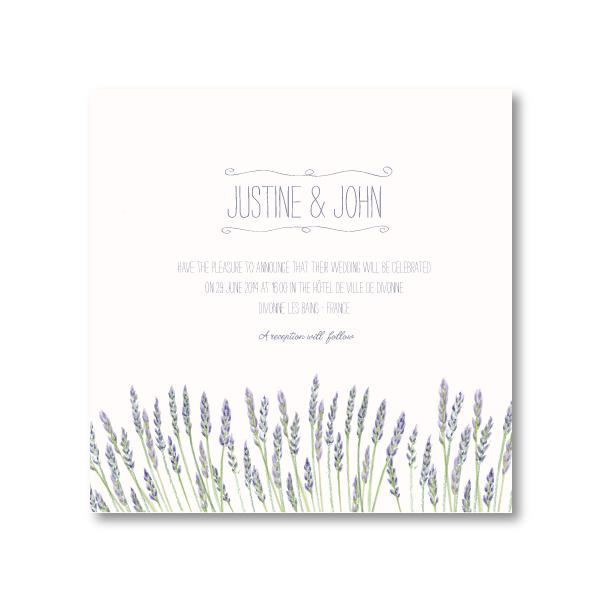 lavanders wedding invitation
