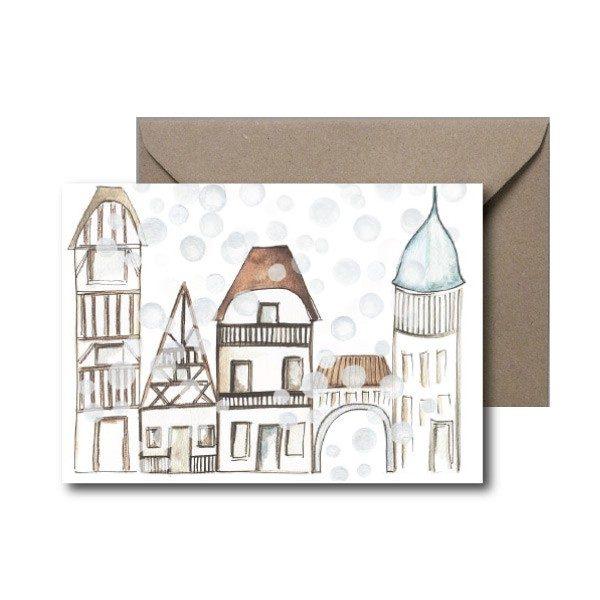 Swiss village Christmas card
