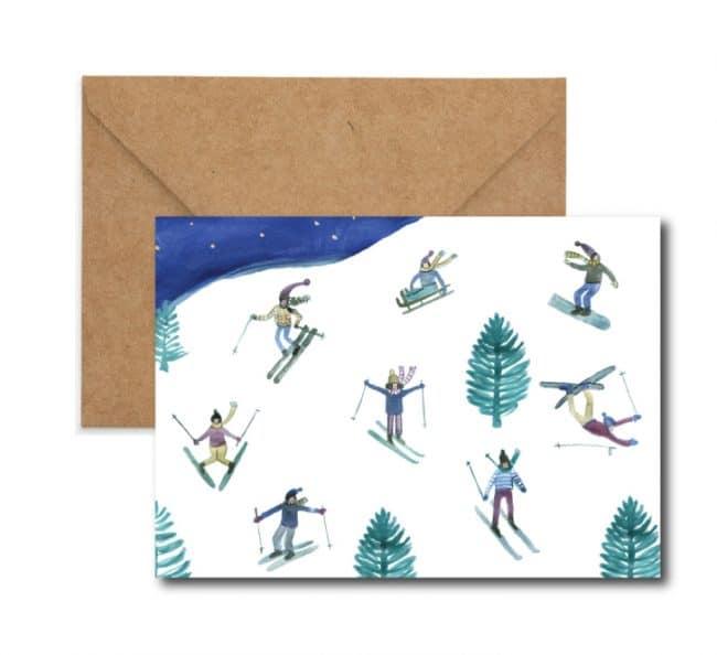 swiss skii illustration